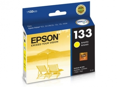 CARTUCHOS ALTERNATIVOS EPSON T-133 AMARILLO P/ TX125