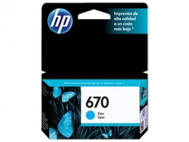 CARTUCHOS HP 670 CYAN X UNIDAD