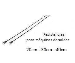 RESISTENCIA MAQUINA DE SOLDAR 30CM X UNIDAD