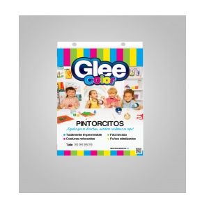 PINTORCITO TRANSPARENTE TALLE LARGE 5-6 X UNIDAD